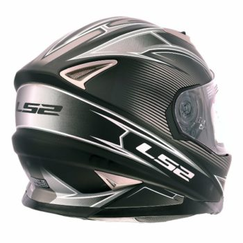 LS2 FF 302 Hyperion Matt Black grey Full Face Helmet 2