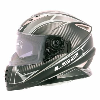 LS2 FF 302 Hyperion Matt Black grey Full Face Helmet