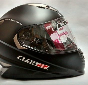 LS2 FF 302 Solid Matt Black Full Face Helmet 3