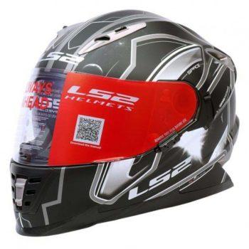LS2 FF 302 Space Matt Black Grey Full Face Helmet