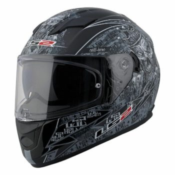 LS2 FF 320 Anti hero matt Black Grey Full Face Helmet