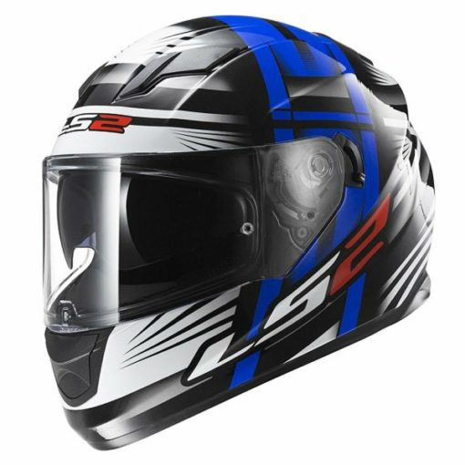 LS2 FF 320 Bang Matt Black Blue Full Face Helmet 1