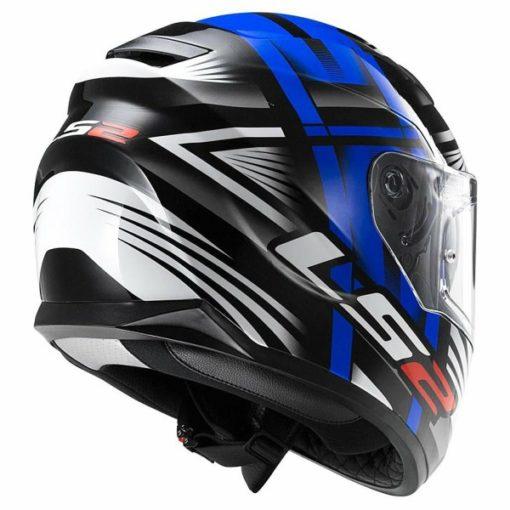 LS2 FF 320 Bang Matt Black Blue Full Face Helmet 2