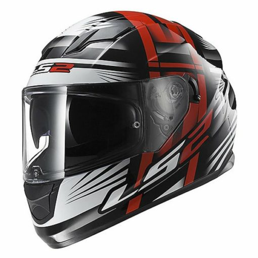 LS2 FF 320 Bang Matt Black Red Full Face Helmet 1