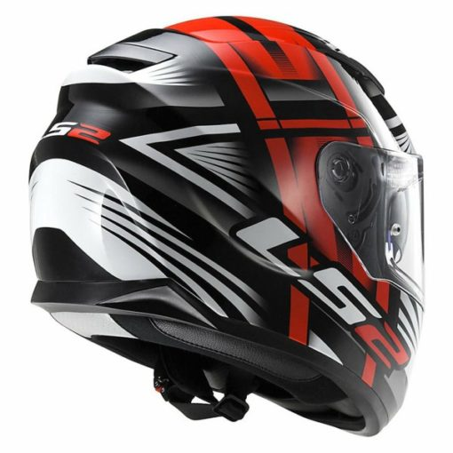 LS2 FF 320 Bang Matt Black Red Full Face Helmet 2