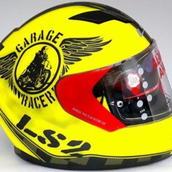 LS2 FF 320 Garage Matt Fluorescent Yellow Full Face Helmet 4
