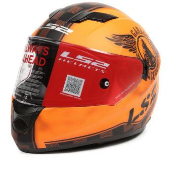 LS2 FF 320 Garage Matt Orange Black Full Face Helmet 3