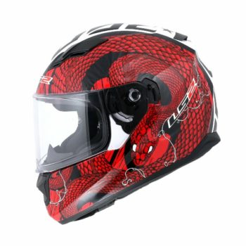 LS2 FF 320 Gloss Cocktail White Red Full Face Helmet 1
