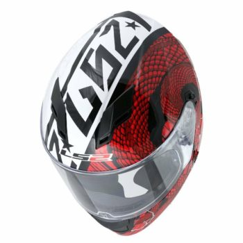 LS2 FF 320 Gloss Cocktail White Red Full Face Helmet 2