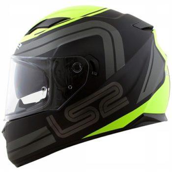 LS2 FF 320 Orbital Matt Black Grey FL Yeallow Full Face Helmet side