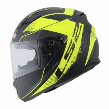 LS2 FF 320 Stinger Matt Black Fluorescent Yellow Full Face Helmet 1