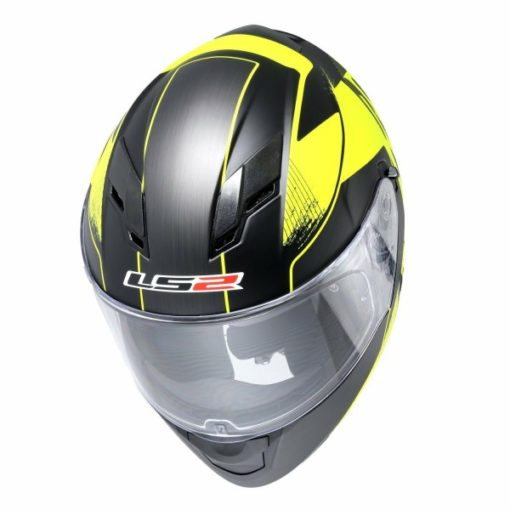 LS2 FF 320 Stinger Matt Black Fluorescent Yellow Full Face Helmet 2