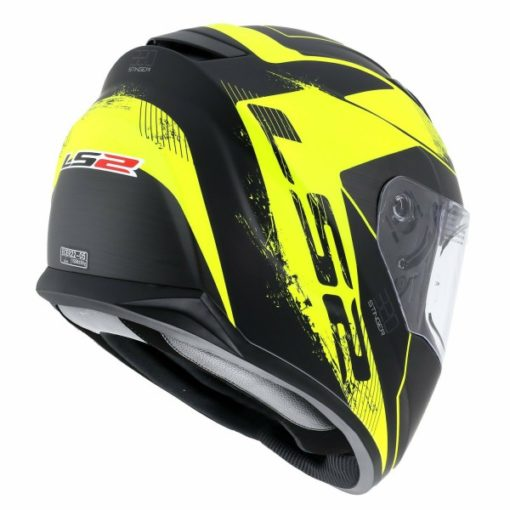 LS2 FF 320 Stinger Matt Black Fluorescent Yellow Full Face Helmet 3