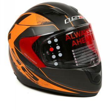 LS2 FF 320 Stinger Matt Black Orange Full Face Helmet 1