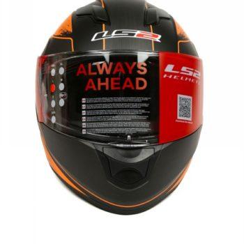 LS2 FF 320 Stinger Matt Black Orange Full Face Helmet 2