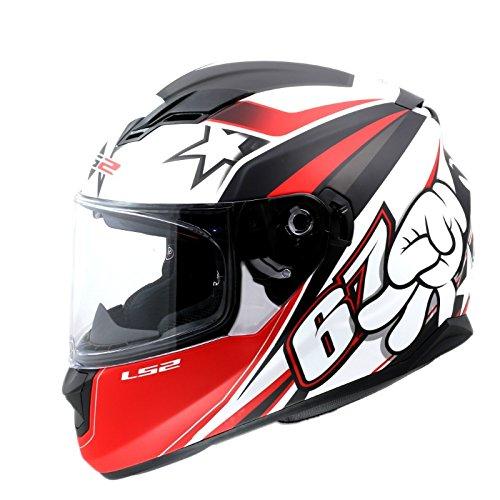 Ls2 Ff320 Superstar Matt Red White Black Full Face Helmet