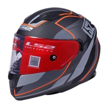 LS2 FF 320 Vantage Matt Black Orange Full Face Helmet 1
