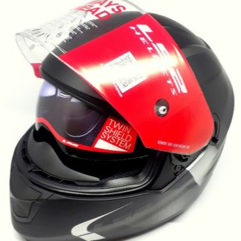 LS2 FF 320 Velvet Matt Black Grey Full Face Helmet 1