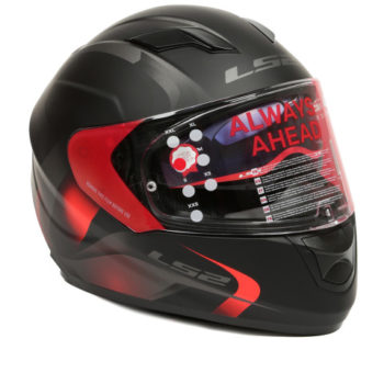 LS2 FF 320 Velvet Matt Black Red Full Face Helmet 1