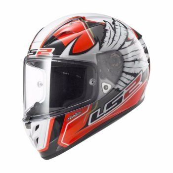 LS2 FF 323 Arrow Yonny Hernandez Replica Gloss White Red Full Face Helmet 1