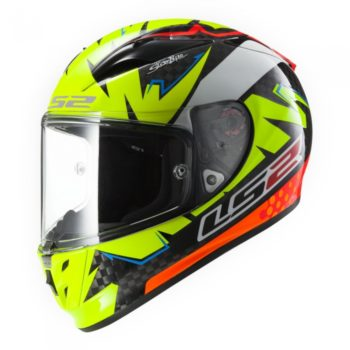 LS2 FF 323 Arrow r Isac Vinales Matt Fluorescent Yellow Orange Full Face Helmet 2