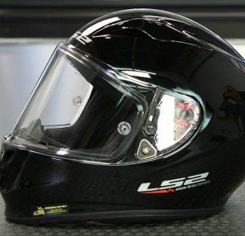 LS2 FF 323 Commet Gloss Black Silver Full Face Helmet 1