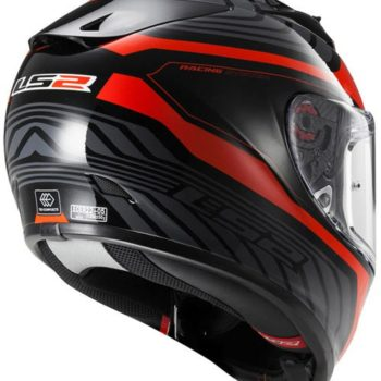 LS2 FF 323 Rush Matt black Red Full Face Helmet 1