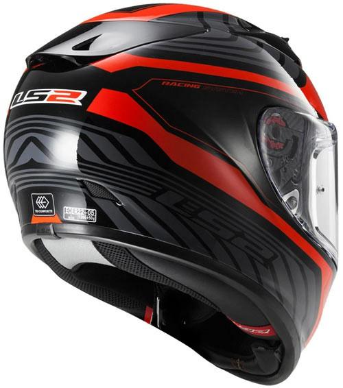LS2 FF 323 Rush Matt black Red Full Face Helmet 1