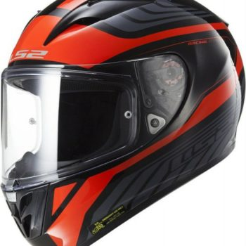 LS2 FF 323 Rush Matt black Red Full Face Helmet 2