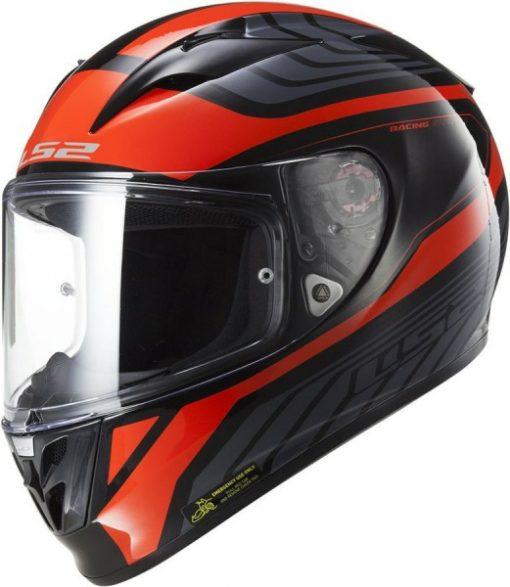 LS2 FF 323 Rush Matt black Red Full Face Helmet 2