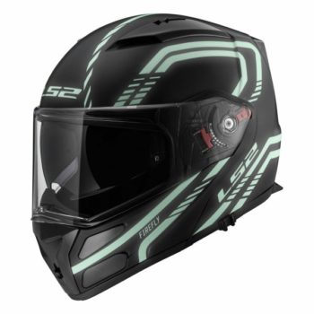 LS2 FF 324 Firefly Matt Black Light Flip up Helmet 1