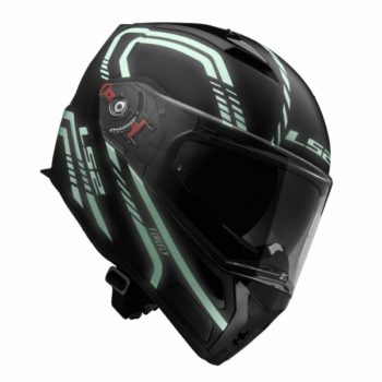 LS2 FF 324 Firefly Matt Black Light Flip up Helmet 2