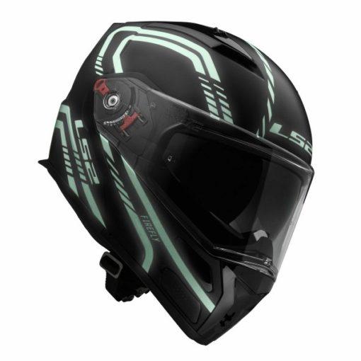 LS2 FF 324 Firefly Matt Black Light Flip up Helmet 2