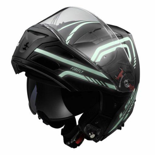 LS2 FF 324 Firefly Matt Black Light Flip up Helmet 3