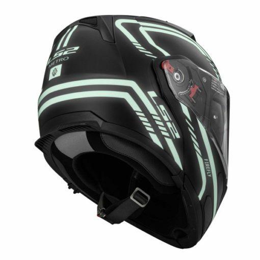 LS2 FF 324 Firefly Matt Black Light Flip up Helmet 4