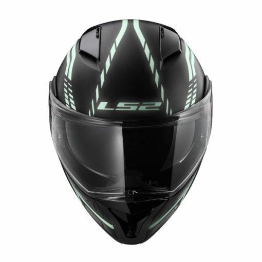 LS2 FF 324 Firefly Matt Black Light Flip up Helmet 5