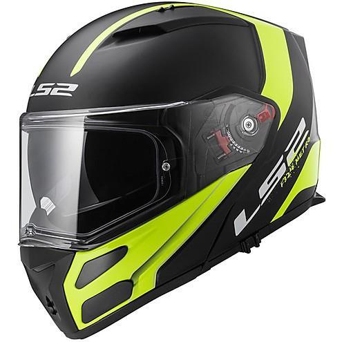 LS2 FF 324 Metro Rapid Matt Black Yellow Full Face Helmet 1