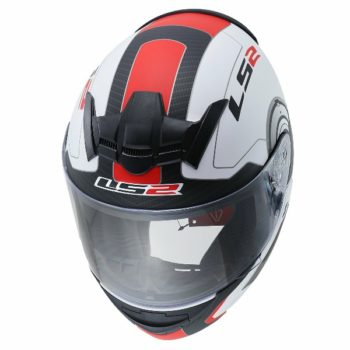 LS2 FF 352 Atmos Gloss White red full Face Helmet 2