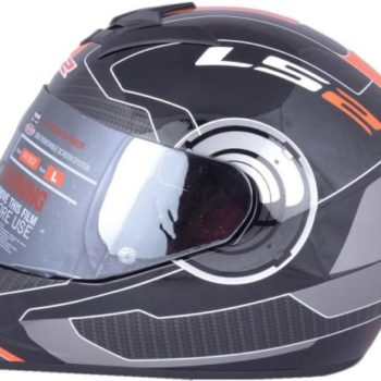 LS2 FF 352 Atmos Matt Black Orange Full Face Helmet 2