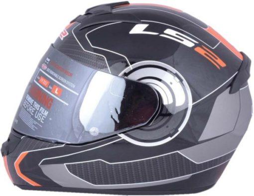 LS2 FF 352 Atmos Matt Black Orange Full Face Helmet 2