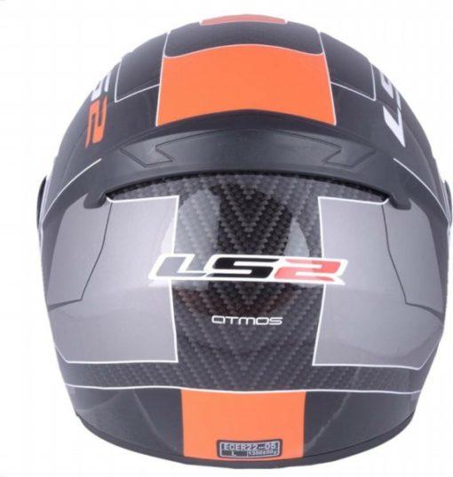 LS2 FF 352 Atmos Matt Black Orange Full Face Helmet 3