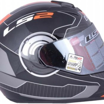 LS2 FF 352 Atmos Matt Black Orange Full Face Helmet 4