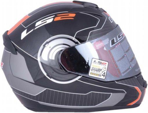 LS2 FF 352 Atmos Matt Black Orange Full Face Helmet 4