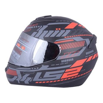 LS2 FF 352 Atmos Matt Black Red Full Face Helmet 1