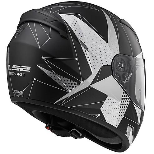LS2 FF 352 Brilliant Matt Black Titanium Full Face Helmet 1