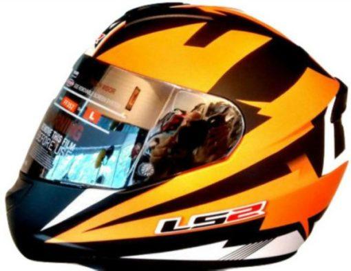 LS2 FF 352 Dyno Matt Black Orange Full Face Helmet 1
