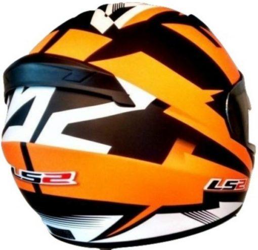 LS2 FF 352 Dyno Matt Black Orange Full Face Helmet 2