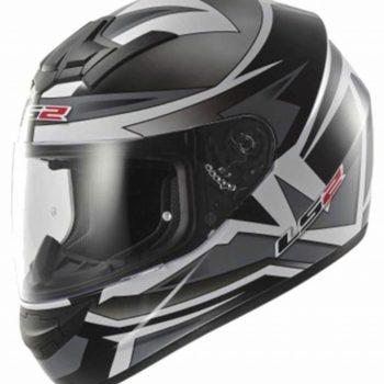 LS2 FF 352 Gamma Gloss Silver Full Face Helmet 1