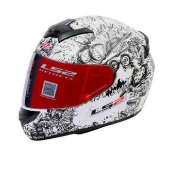 LS2 FF 352 Lunatic Matt Pearl White Black Full Face Helmet