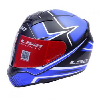 LS2 FF 352 Max Matt Black Blue Full Face Helmet 1